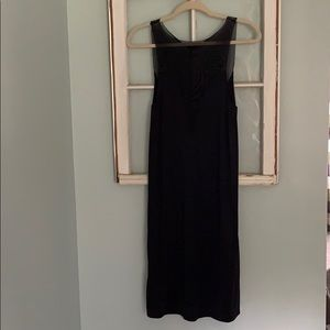 EUC sheer mesh and polyester black slip.